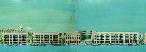 Reconstruction du Vieux-Port (1951-1955) de Marseille avec Auguste Perret et André Devin. Gouaches de Marcel Donatini.