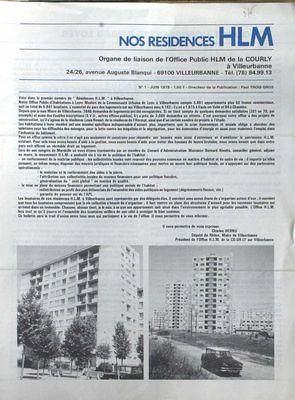 NOS RESIDENCES HLM N° 1 DU 01 o6 1979 - COURLY CHARLES HERNU. -