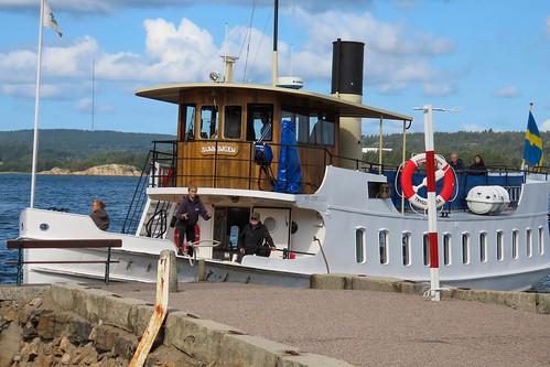 En tur till Gustafsberg , Uddevalla. Skärgårdsbåten m/s Sunningen