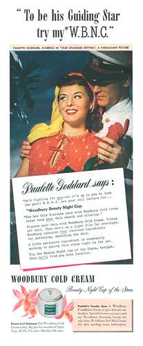 Paulette Goddard for Woodbury Cold Cream, 1943
