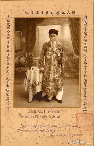 AP0452-Sallet  - Hué, 1930 – Portrait de S.A.R. Ton That Han, Régent