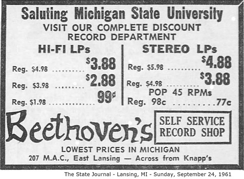 Beethoven's Record Shop-207 M.A.C.-East Lansing-1961-09-24-MI