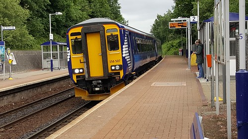 Abellio Scotrail Class 156 156507 at Ashfield Station Platform 2 with a Local Stopping Service (01-06-17)