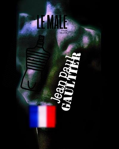 Jean-Paul Gaultier 's campaign (feat. French model; Omar Hanoune )