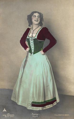 Geraldine Farrar as Angela in Le Domino Noir (1905)