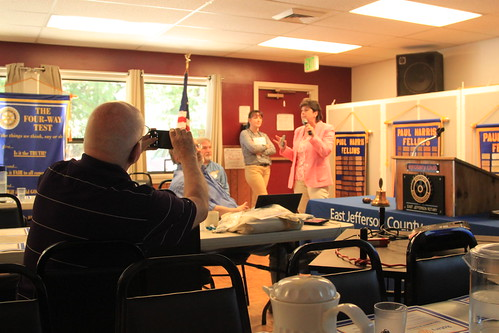 IMG_1459 - Chimacum WA - The Rotary Club of East Jefferson County - Meeting of August 22nd, 2019 - Jack McKay taking pictures of the speakers