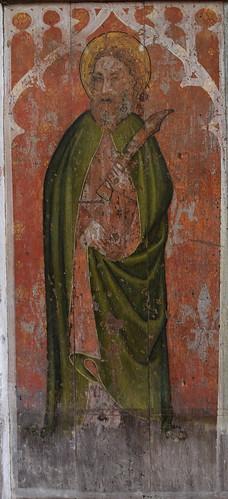 rood screen: St Bartholomew (early 15th Century)