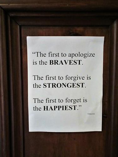 Inspirational quote, narthex of St. John's Anglican Church, Lunenburg, Nova Scotia