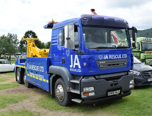 JA Rescue Ltd ERF ECT Recovery Lorry GN06 NLG