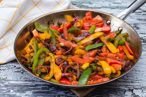 Sauté Vegetables with Pepper, Tomato and Onion