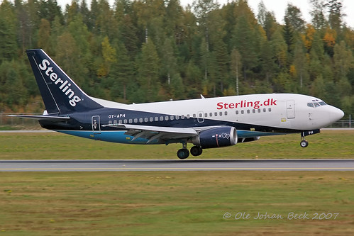 Sterling B737-5L9 OY-APH at ENGM/OSL 09-09-2007
