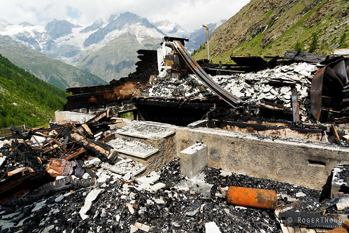 20190806-062-Haute Route day 12 - Burnt ruins of house