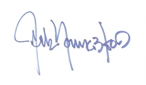 Jack Youngblood autographed index card