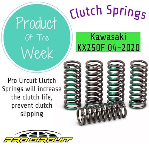 • P R O D U C T • O F • T H E • W E E K • 👉Pro Circuit Clutch Springs Fits The Following Bikes: Kawasaki KX125 2003-2006 Kawasaki KX250F 2004-2020 Suzuki RM-Z250 2004-2006 Clutch Springs Description: Pro Circuit Clutch Springs will increase th