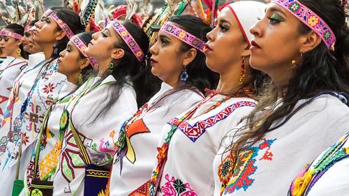 Huicholas (Grupo Folklórico Macuilxóchitl de San Luis Potosí) en el Festival Folklórico de los Pirineos, Jaca