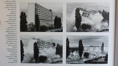 BANLIEUE89 GRAND-CHARMOND Cite moderne les Fougeres @ le PICARDE constr 1961 patrimoine de la SAFC 300 lgts dynamités le 18 07 87