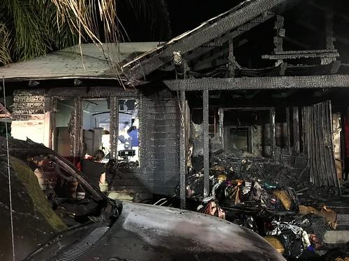 Overnight Blaze Gravely Injures Teenager