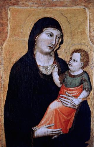IMG_2950PF Jacopo del Casentino (Jacopo Landini) 1297-1358 Florence Vierge à l'Enfant  Virgin and Child   ca 1320 Vatican Pinacothèque  Panneau d'un polyptiqu e  Panel of a polyptych  67x42