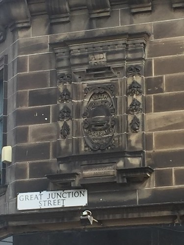 Wall decal on former Leith Provident Co-operative Society premises, Great Junction Street, Leith, Edinburgh - 1911
