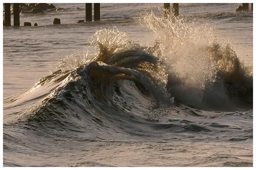 Backwash Wave shore break