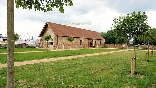 Llanthony Secunda Priory in May 2019, Priory Junction, Gloucester GL2 5FA, Gloucestershire, England.