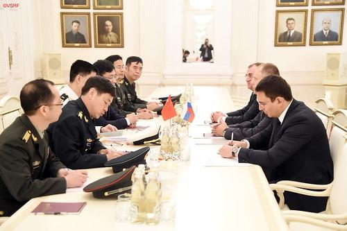 Визит делегации военного суда Народно-освободительной армии Китая во главе с заместителем Председателя военного суда, контр-адмиралом Чэн Дунфаном (Москва, 12 августа 2019 года)