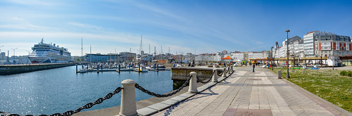 ... AIDA Diva, moored in Port of La Coruna ...