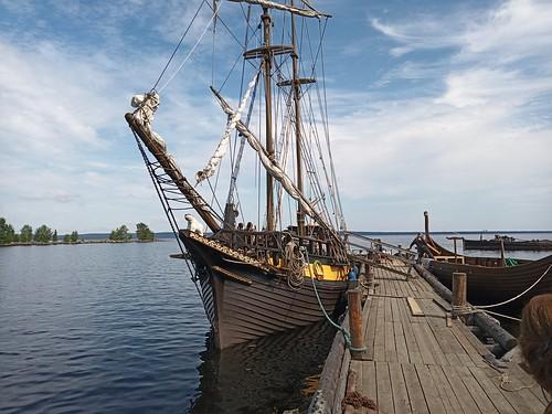 Museo  de la Odisea Polar; Histórico embarcadero. Petrozavodsk. Karelia. Rusia
