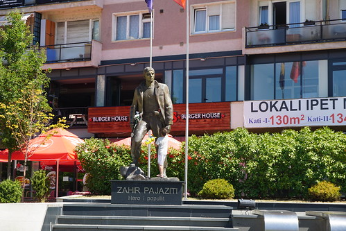 Statue of Zahir Pajazit, Pristina, Kosovo