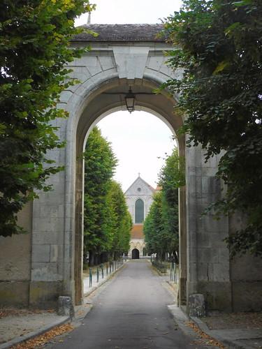 Entrance of Pontigny Abbey