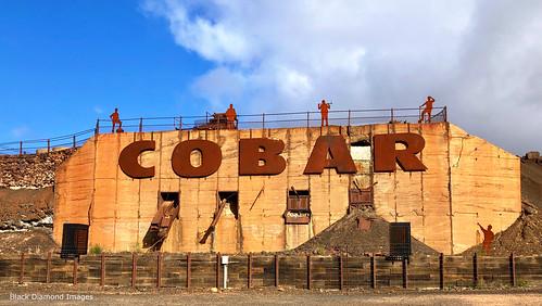 Cobar Sign - Front of now Redundant Great Cobar Mine, Cobar, Western NSW