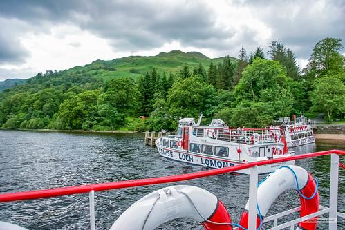 Near Tarbet, Cruising Boats on Loch Lomond.