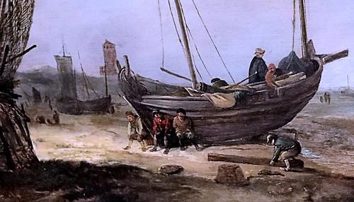 IMG_1354A Jacob van Esselens 1626-1687 Amsterdam  Pêcheurs sur la plage. Fischer am strand  Schwerin.Staatliches Museum
