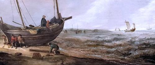 IMG_1354B Jacob van Esselens 1626-1687 Amsterdam  Pêcheurs sur la plage. Fischer am strand  Schwerin.Staatliches Museum