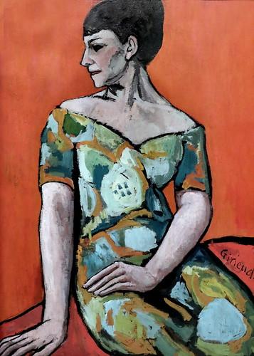 IMG_2122A Pierre Paul Girieud  1876-1948 Paris Bildnis der Malerin Emilie Charmy Portrait of the painter Emily Charmy 1908 München Lenbachhaus