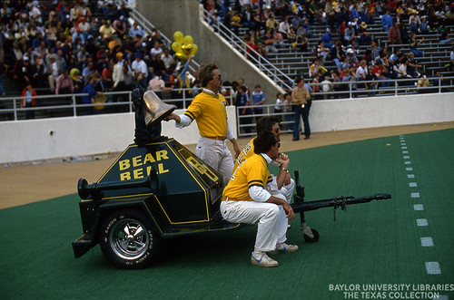 Baylor University, Football Game, Crowd, and Bear Bell, 1980s