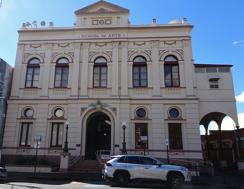Maryborough. The 1888 built School of Arts building. For many years it was the town library. Architect was Grainger of Adelaide. It is now the Historical Society Museum.