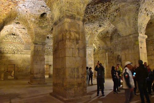 Underground cellars, Diocletian Palace, Split, Croatia