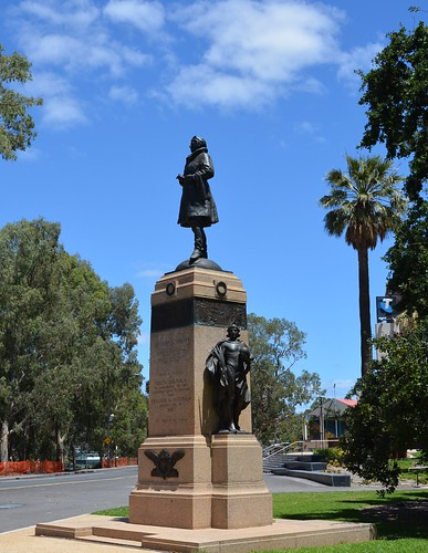 Adelaide Sir Ross Macpherson Smith memorial erected by the people of South Australia to commemorate the first successful flight by aeroplane from England to Australia 1919