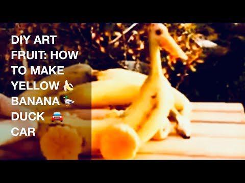 DIY ART FRUIT: HOW TO MAKE YELLOW 🍌 BANANA  DUCK 🚘 CAR|Art In Banana Yellow Duck Car