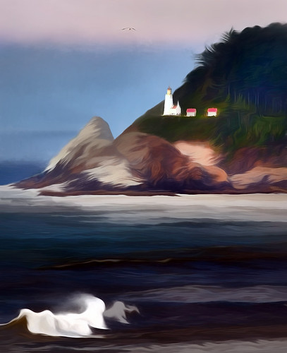Pacific Coastal California Lighthouse Charcoal