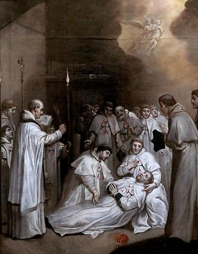 IMG_8536 X Spain 17 è siècle Mort de Saint Félix de Valois, co-fondateur de l'Ordre Trinitaire Death of Saint Félix de Valois co founder of the Trinitarian Order  Museo Santa Cruz  Toledo