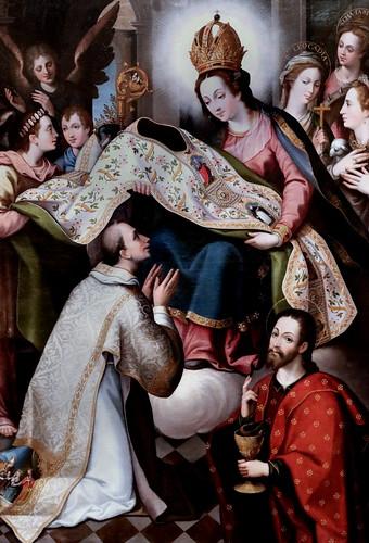 IMG_8520 Diego de Aguilar II 1558-1624 Toledo  et Juan Sanchez Cotan 1560-1627  Toledo Remise de la Chasuble à Saint Ilde Fonso Bestowment of the Chasuble on Saint Ilde fonso  Museo Santa Cruz  Toledo