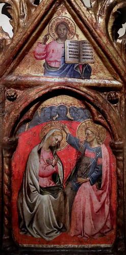 IMG_7512 Lippo  di Dalmasio  vers 1377-1410  Bologna et Pistoïa Incoronazione della Virgine. Cristo benedicente Coronation of the Virgin. Christ blessing 1394 Bologna Pinacoteca Nazionale