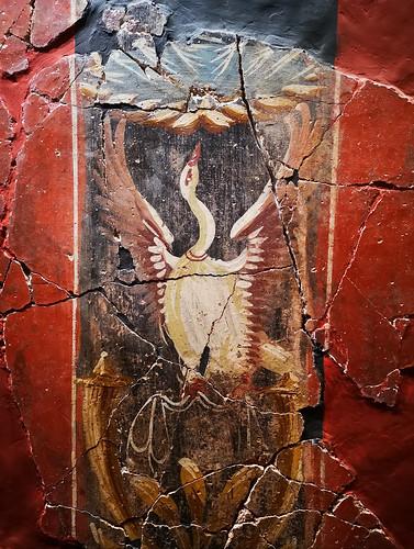 The House of Fortune, Mural painting in the tablinum, Cartagena (Qart Hadasht - Carthago Nova)