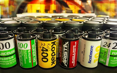 Digital = zeros and ones, Film = Cellulose acetate.