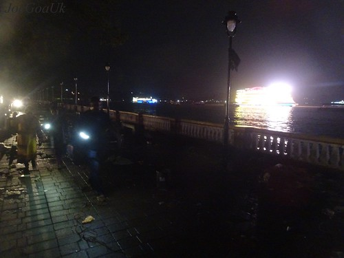 Darkness on promenade