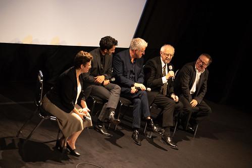 Juan Minujín, Anthony McCarten, Jonathan Pryce, and Fernando Meirelles