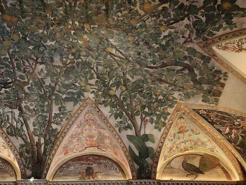 Sala a fogliami: Decorazione di Camillo Mantovano
