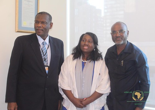 Handing Over Ceremony between outgoing Chair Amb Omer Ahmed Siddig, PR Sudan to the UN, and incoming chair for the month of September, Amb Adonai Ayebare, PR Uganda to the UN, August 30, 2019